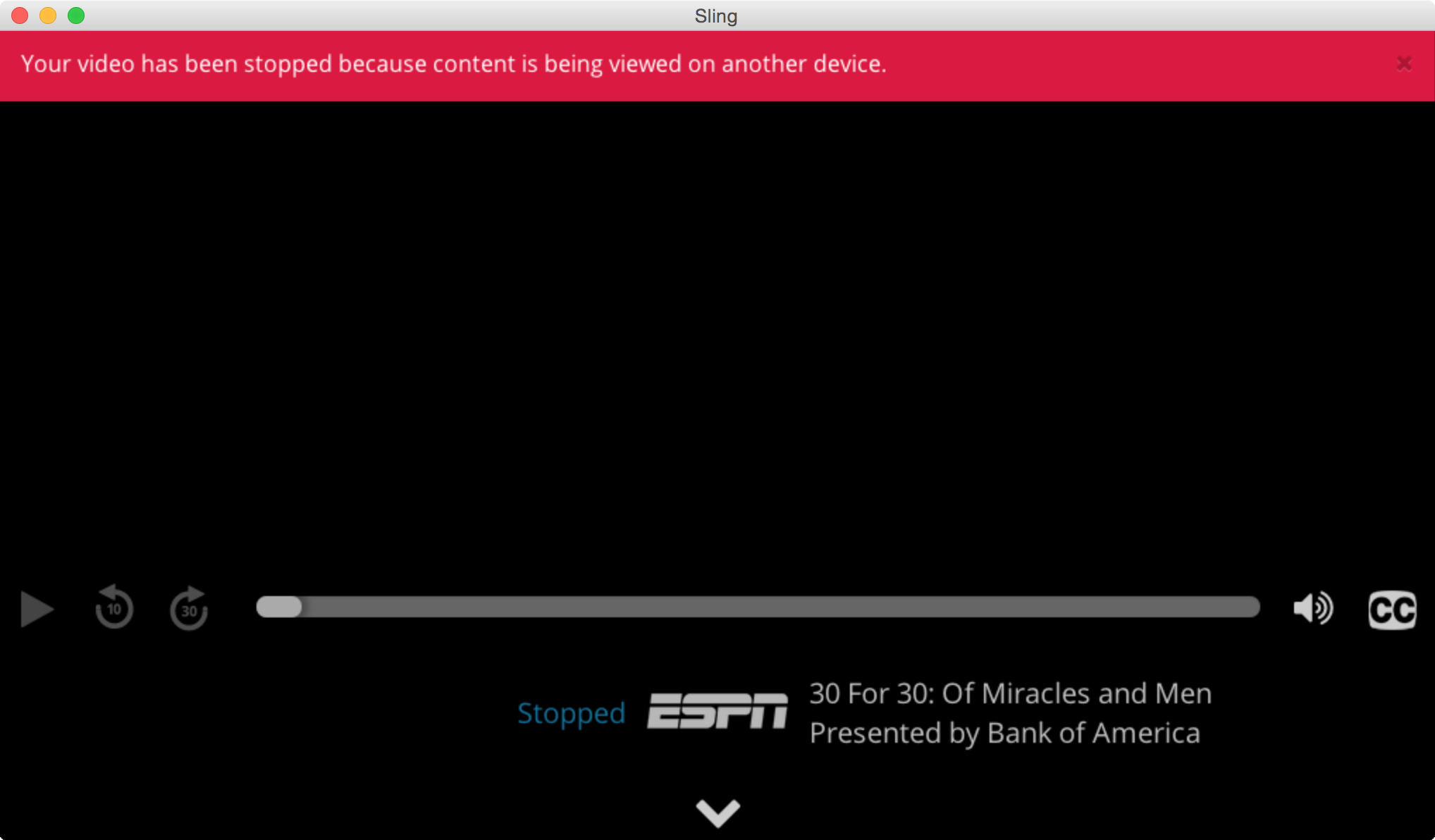 Sling TV One Device