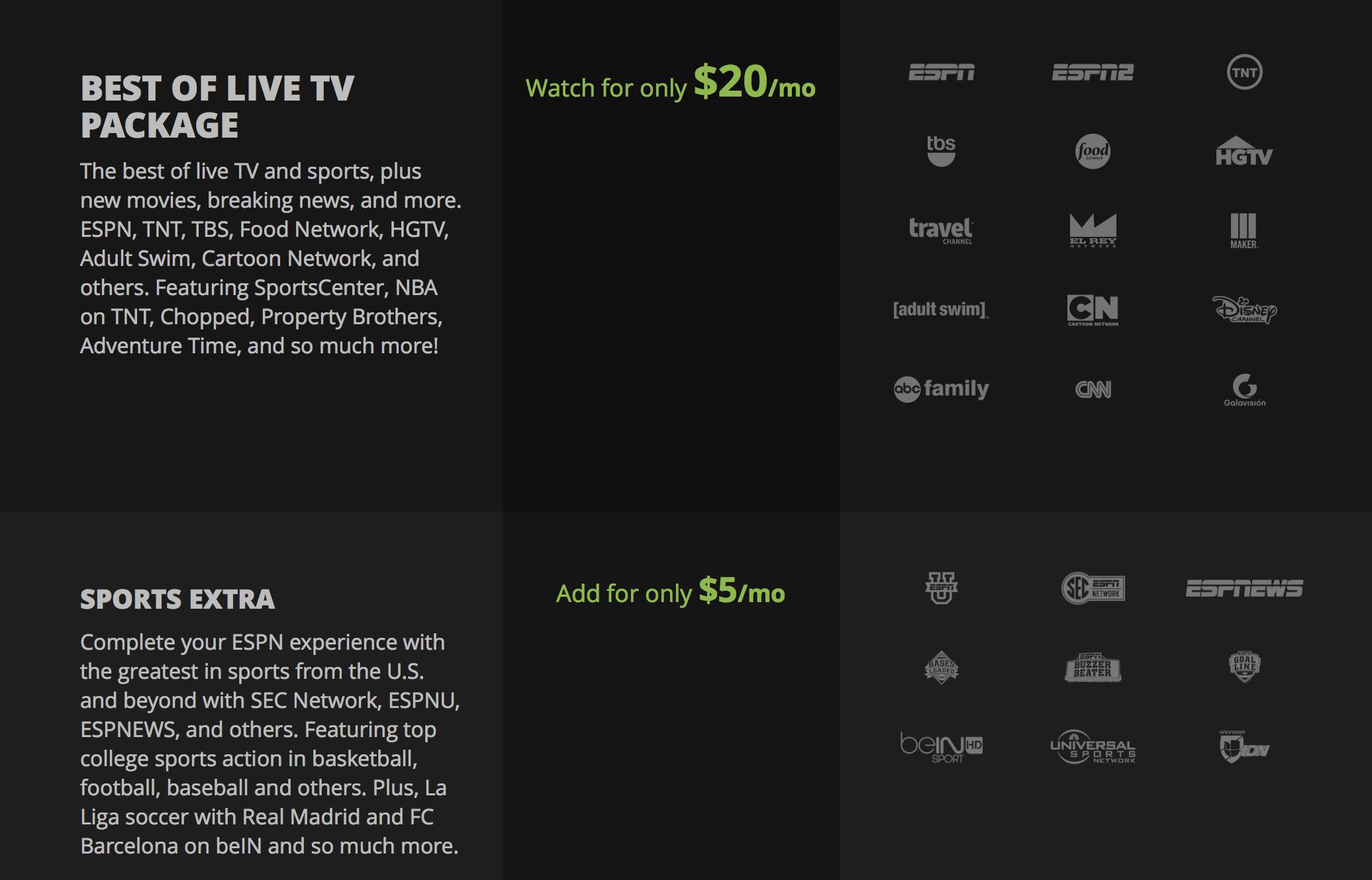 Sling TV Price