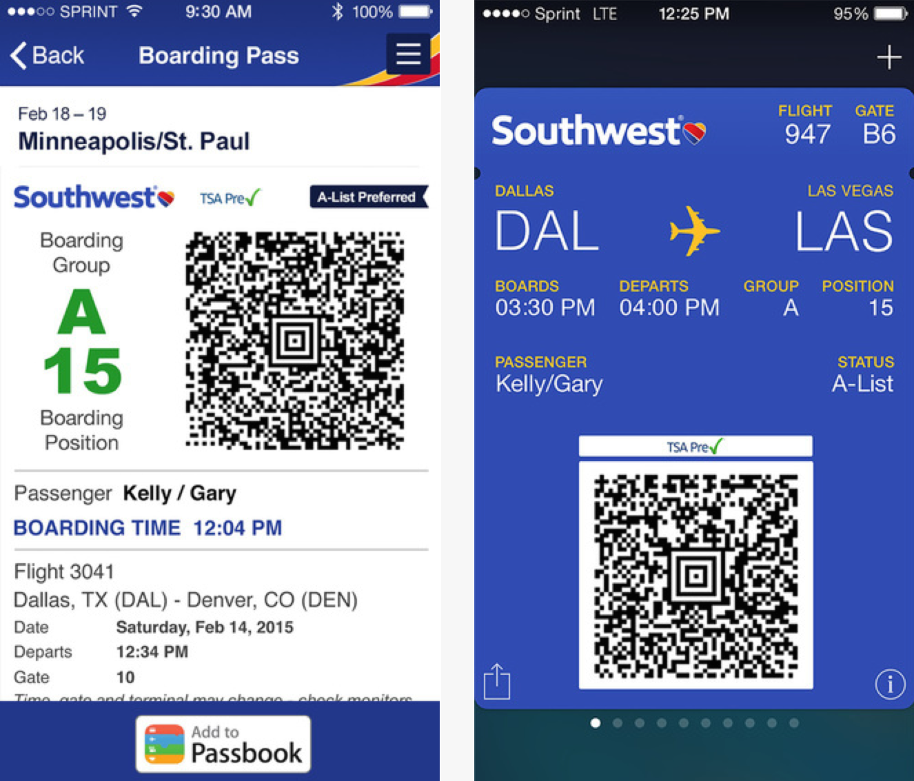 Southwest Airlines app updated with Passbook support