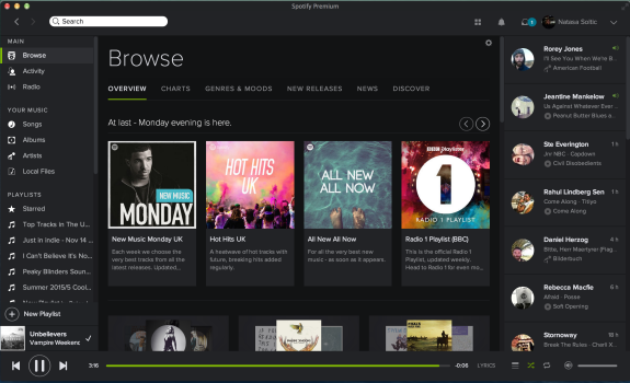 Spotify for Mac Browse