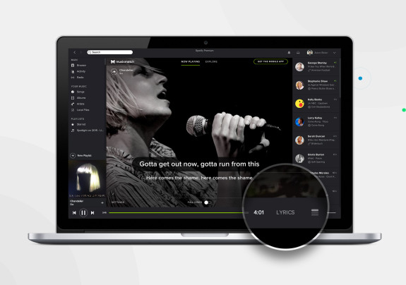 Integración de Spotify para Mac Musixmatch