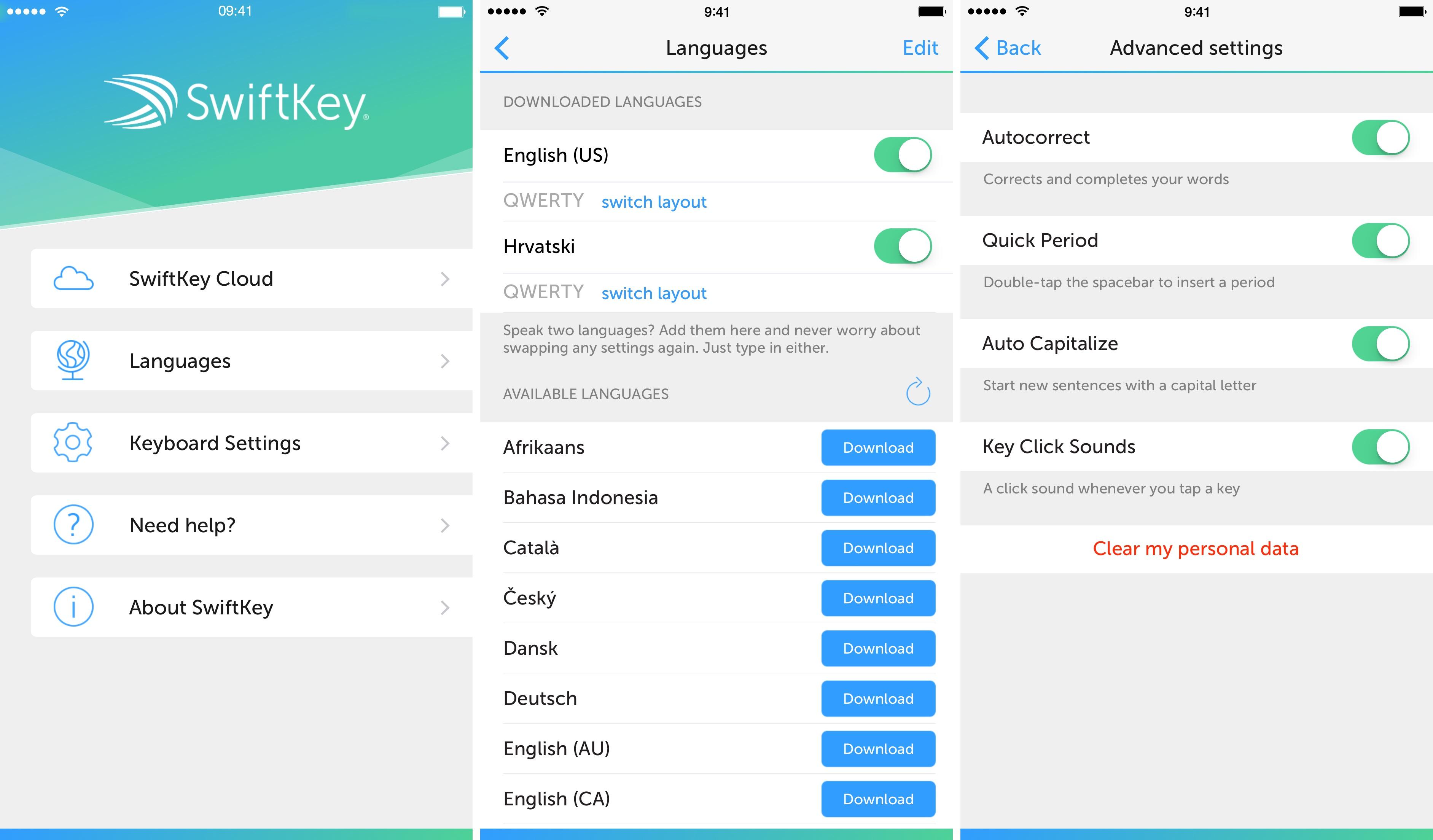 SwiftKey 1.2 for iOS iPhone screenshot 002