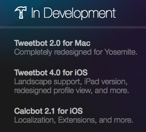 Tweetbot roadmap