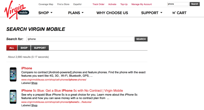 Virgin Mobile no iPhone