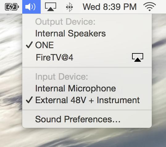 Volume menu bar alt controls