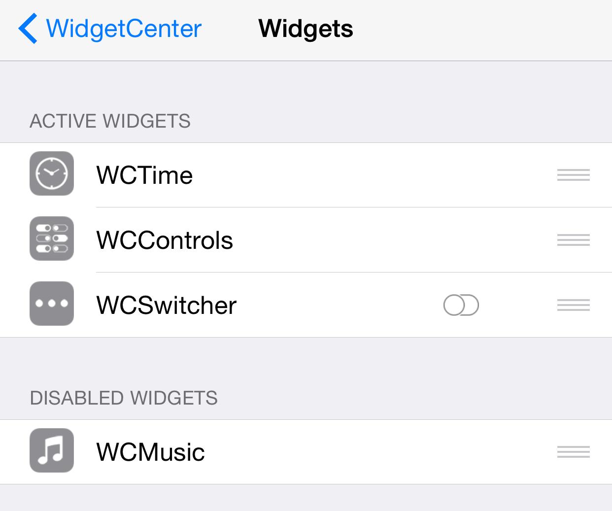WidgetCenter 5