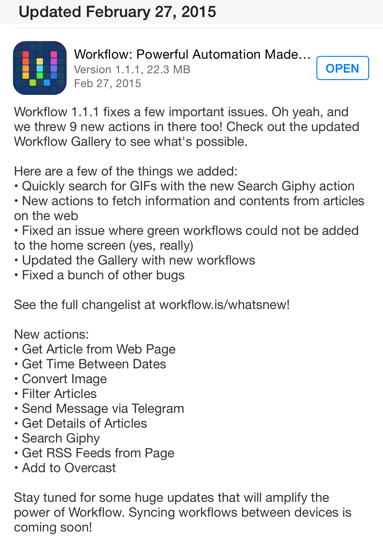 Workflow 1.1.1