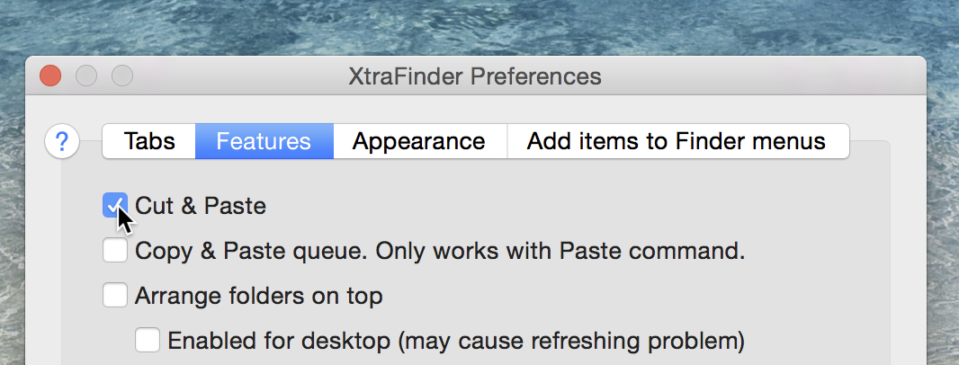 shortcut for cut paste on mac