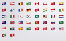 country emojis