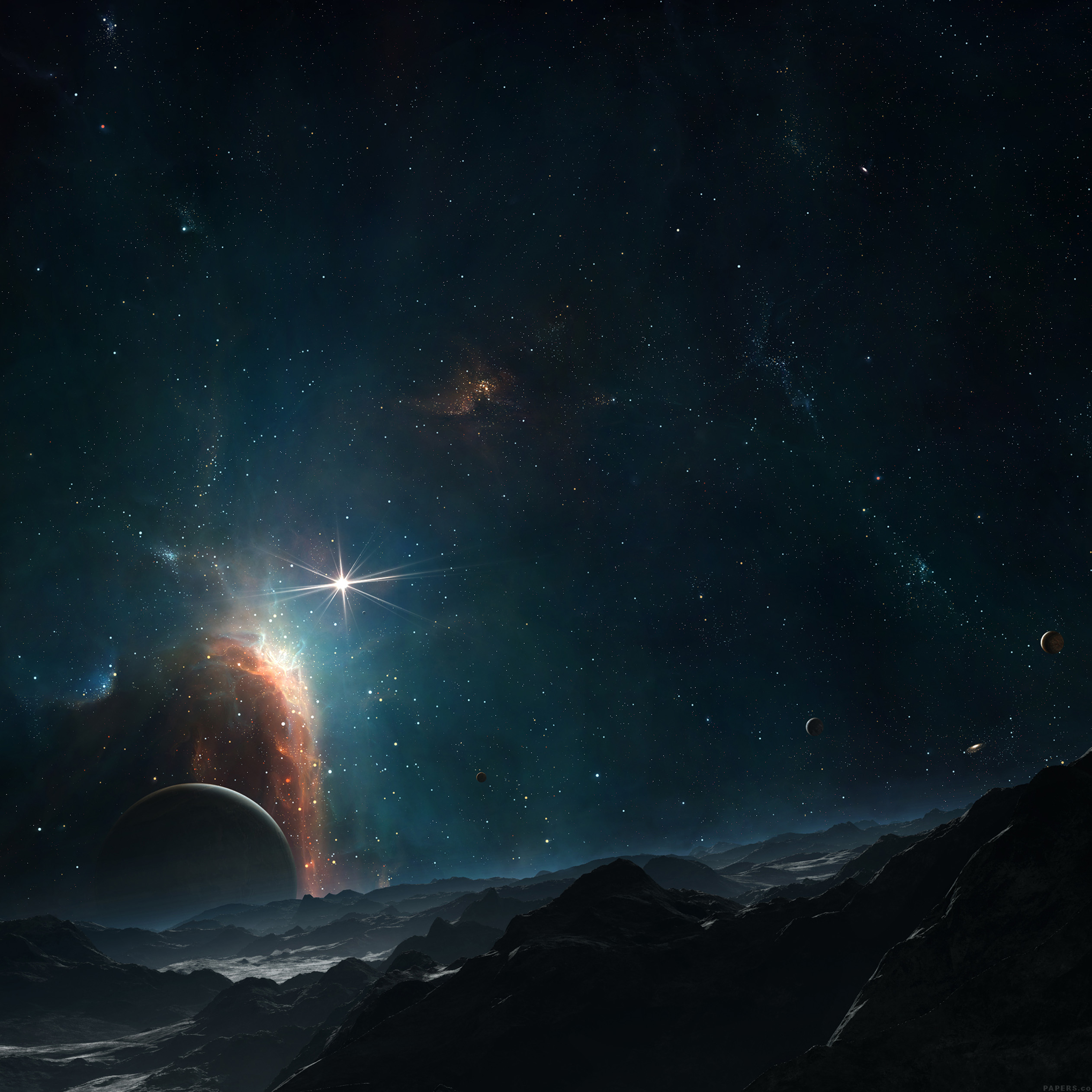 Gorgeous galaxy wallpapers for iphone and ipad - Dark space hd ...