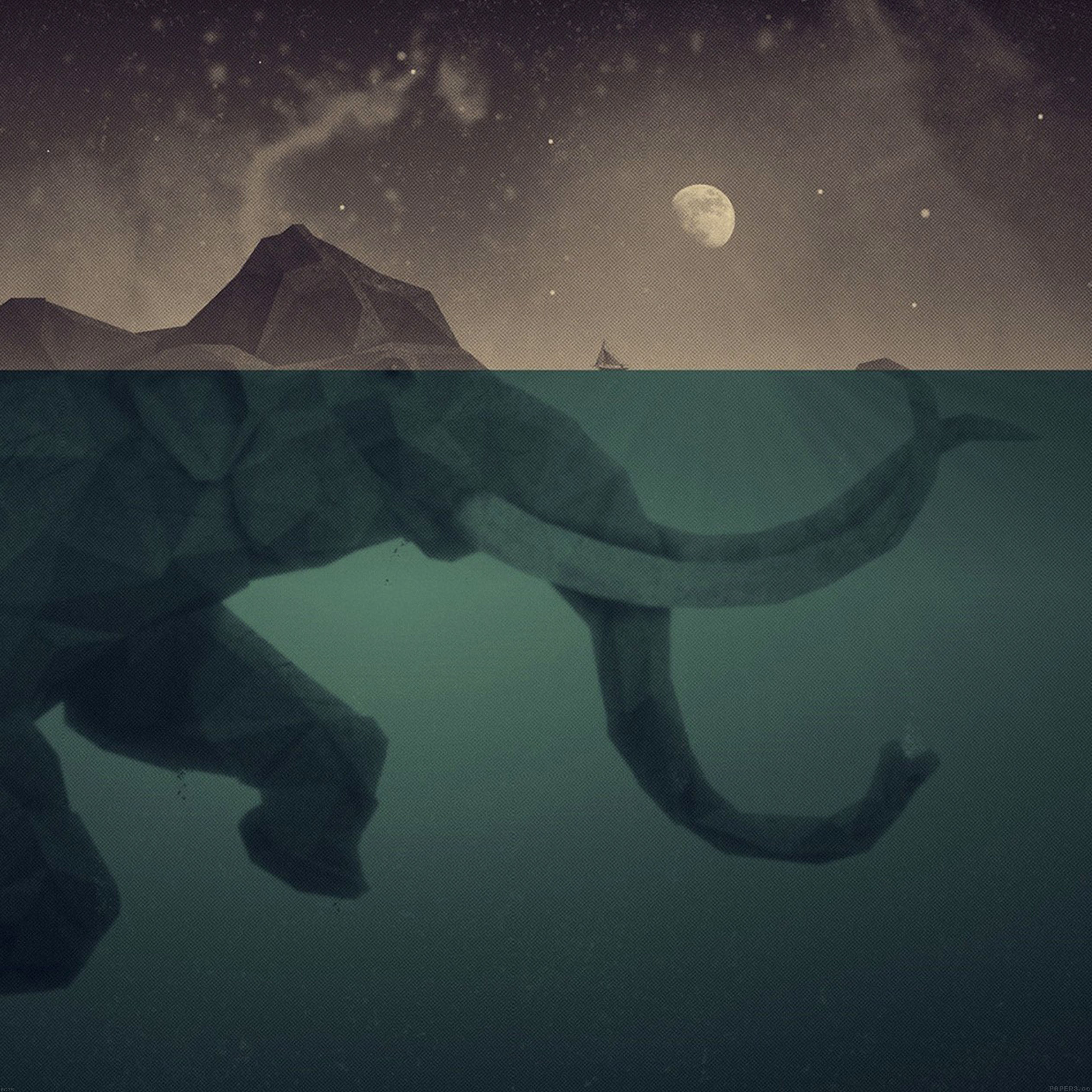 elephant-illust-sea-swim-art-9-wallpaper