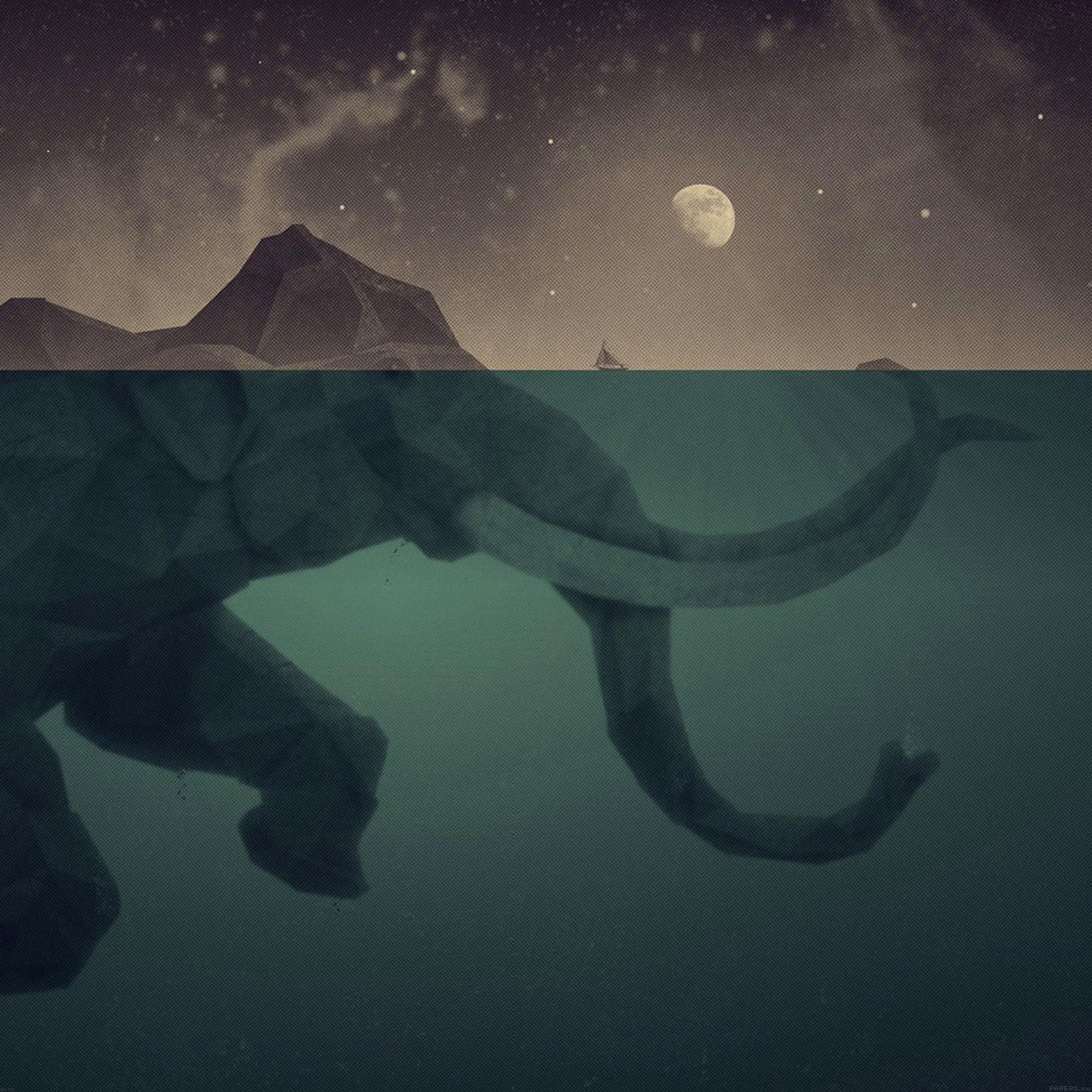 elephant-illust-sea-swim-art-9-wallpaper