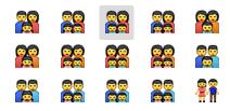 family emojis