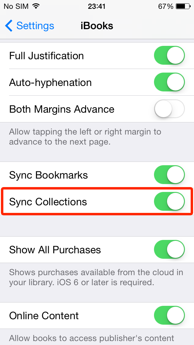 iBooks Sync Collections