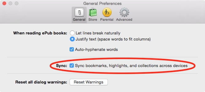 iBooks for Mac Sync Collections