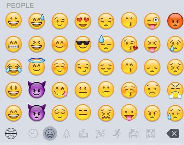 iOS 8.3 emoji layout