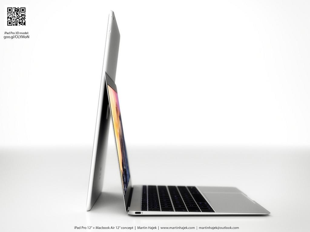 iPad Pro vs twelve-inch MacBook Air Martin Hajek render 001