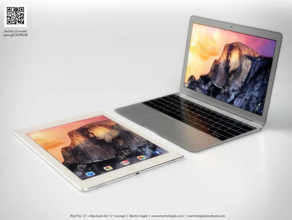 iPad Pro vs twelve-inch MacBook Air Martin Hajek render 002