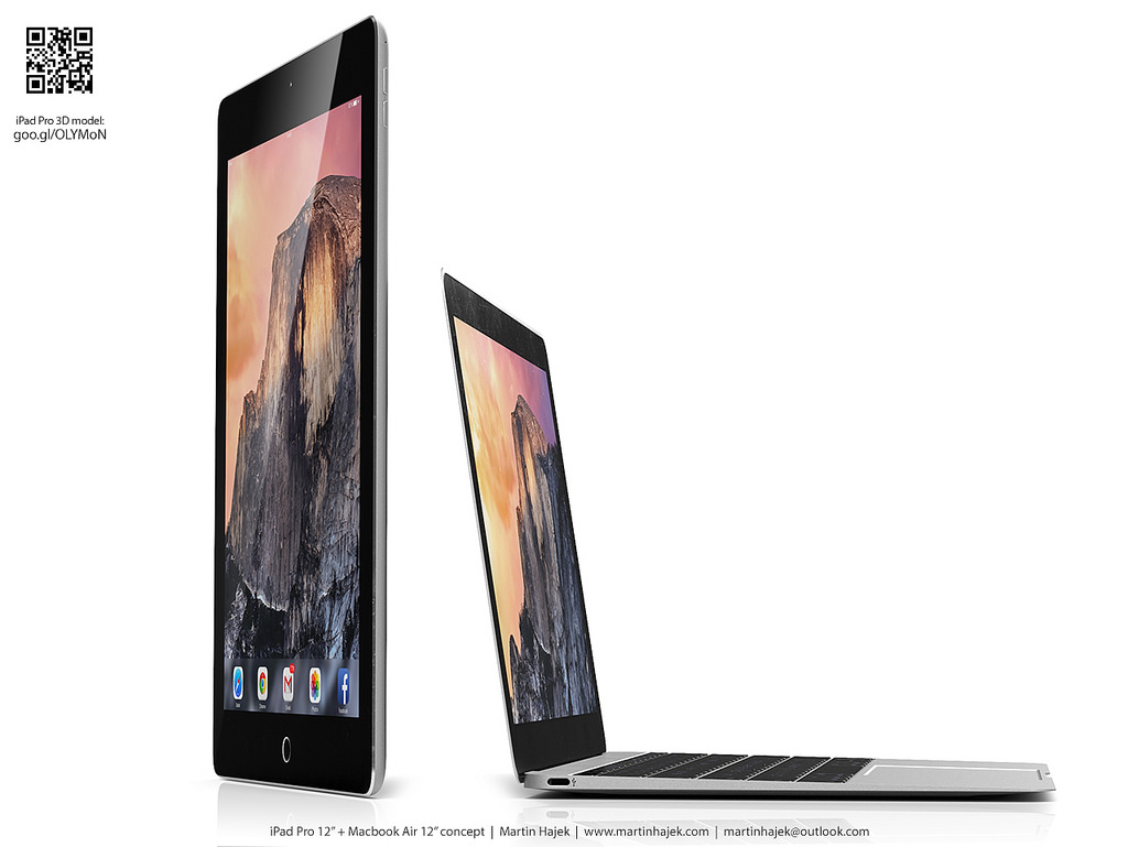 iPad Pro vs twelve-inch MacBook Air Martin Hajek render 003