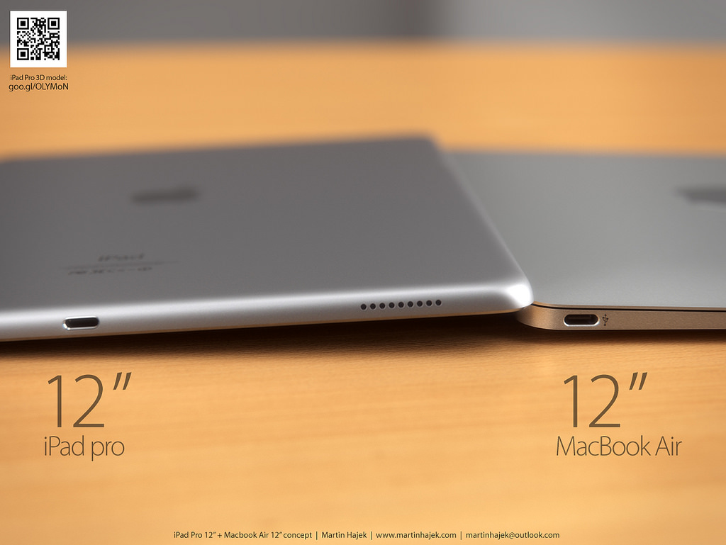 iPad Pro vs twelve-inch MacBook Air Martin Hajek render 004