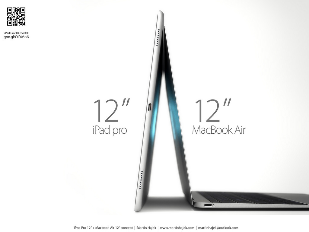 iPad Pro vs twelve-inch MacBook Air Martin Hajek render 005