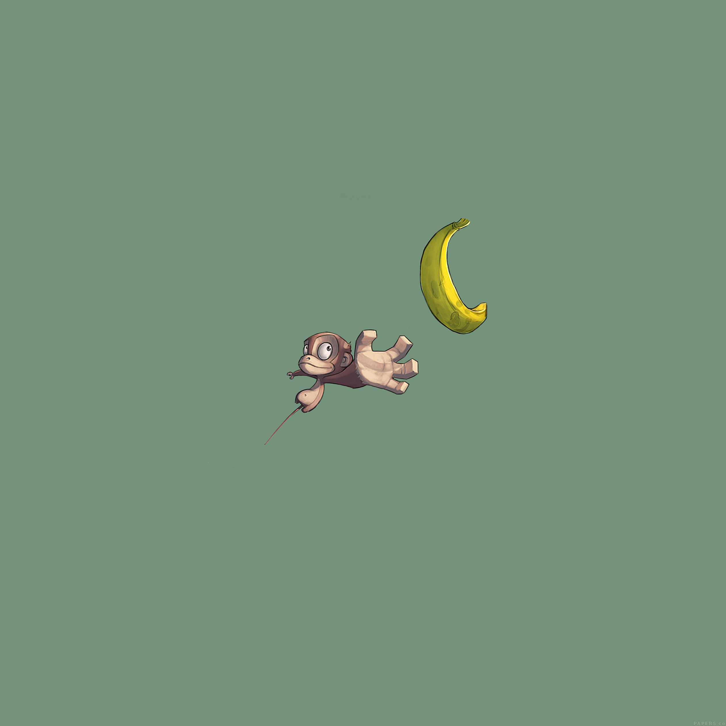monkey-banana-love-illust-art-minimal-9-wallpaper