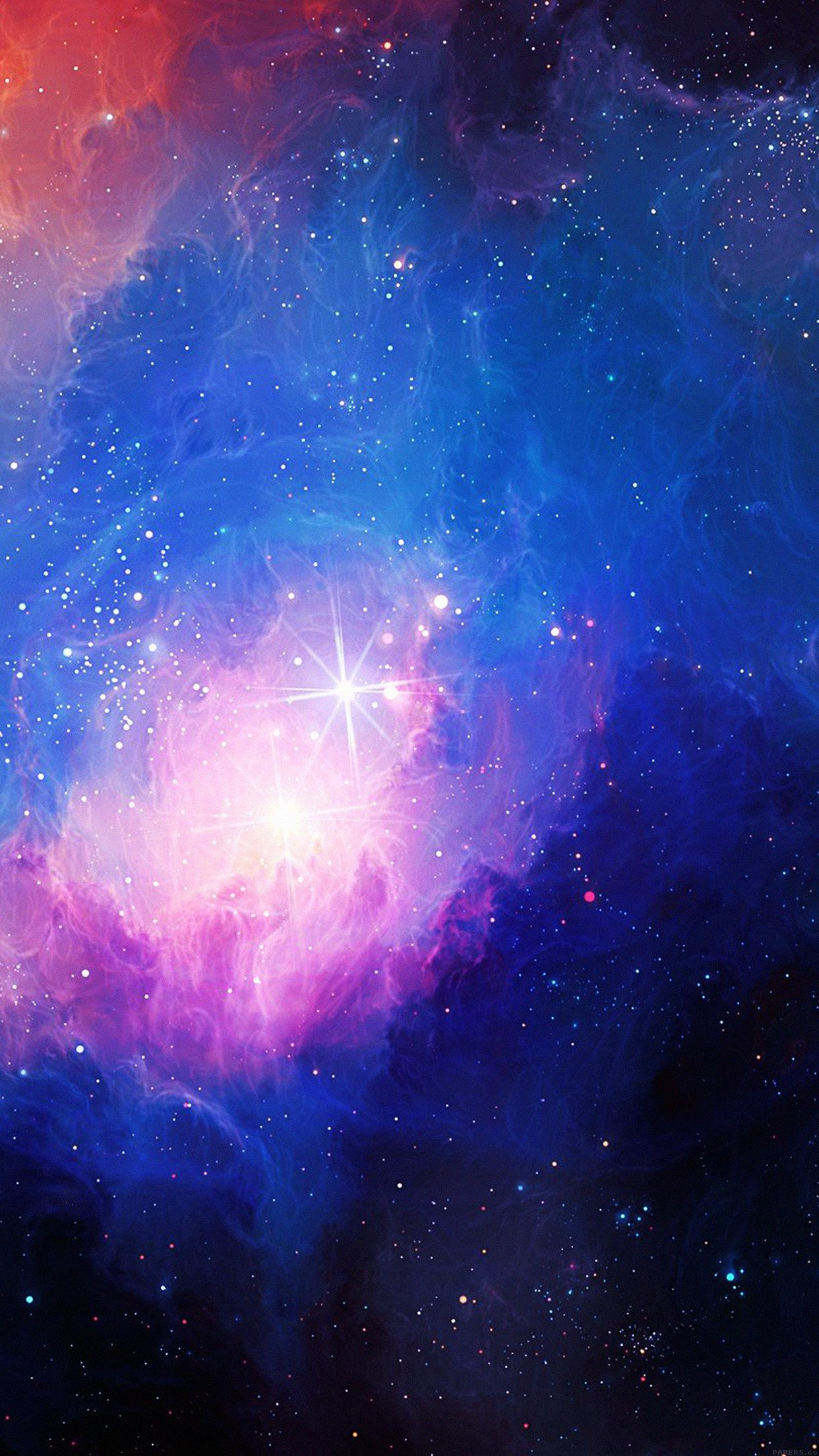 space aurora art star illust blue rainbow 34 iphone6 plus wallpaper