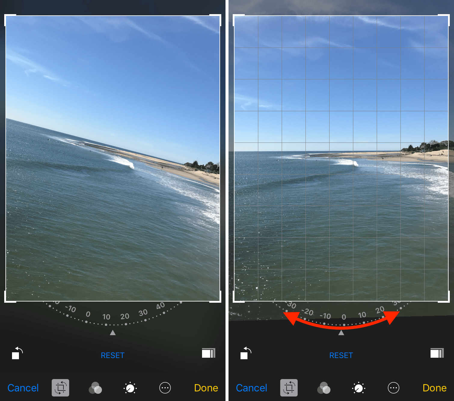 Rotate to straighten your iPhone photos