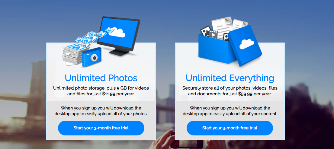 Amazon Unlimited Photos and Everything plans