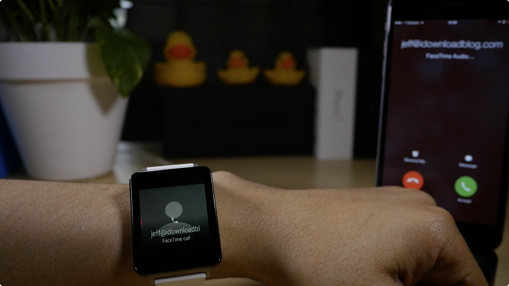 Android Wear FaceTime