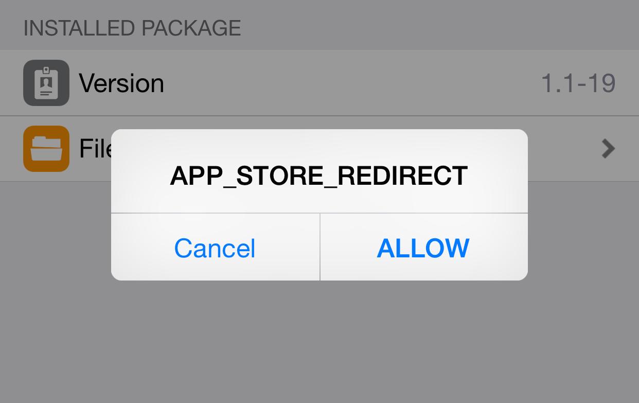 App Store Redirect