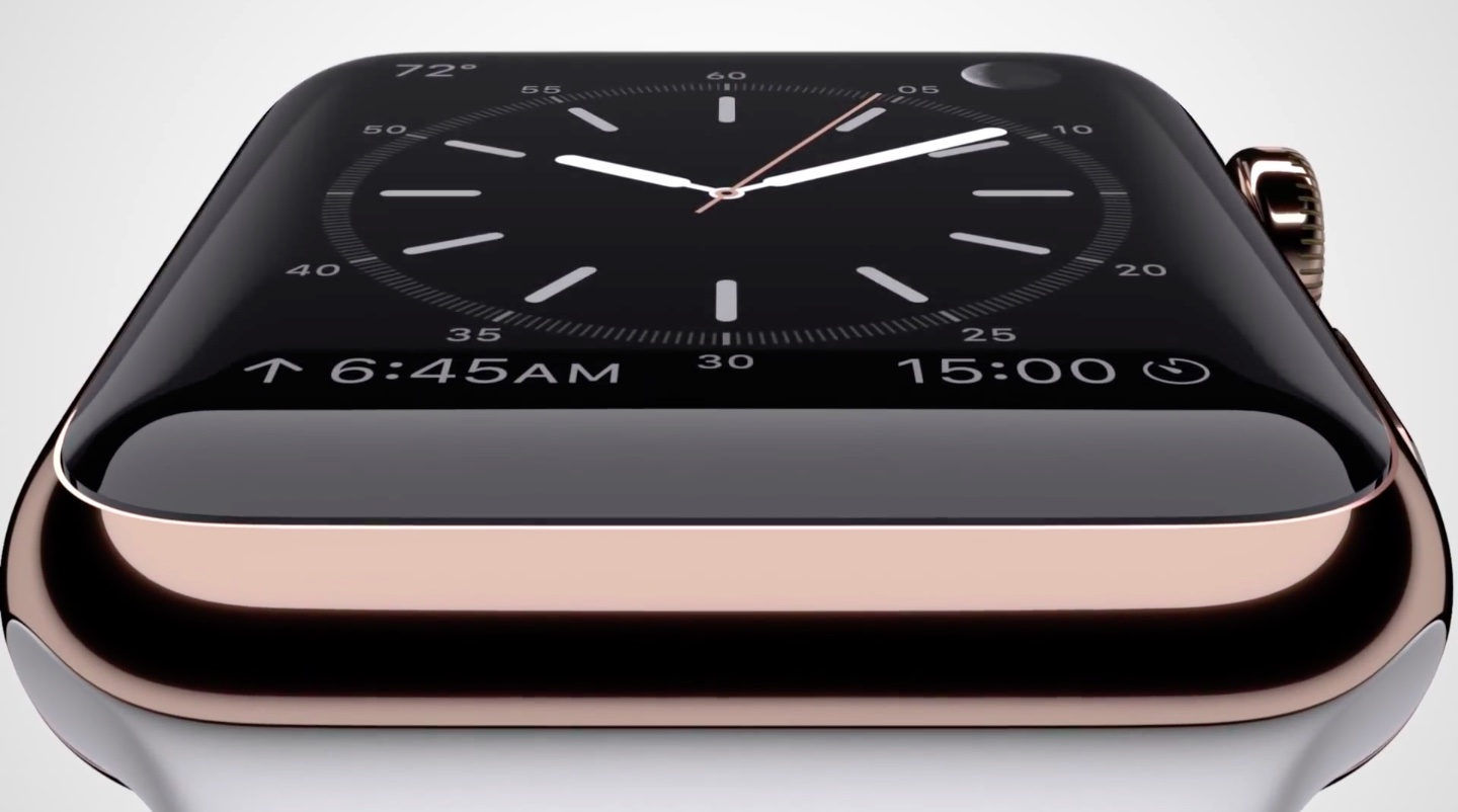 Apple Watch Edition Rose Gold closeup 001