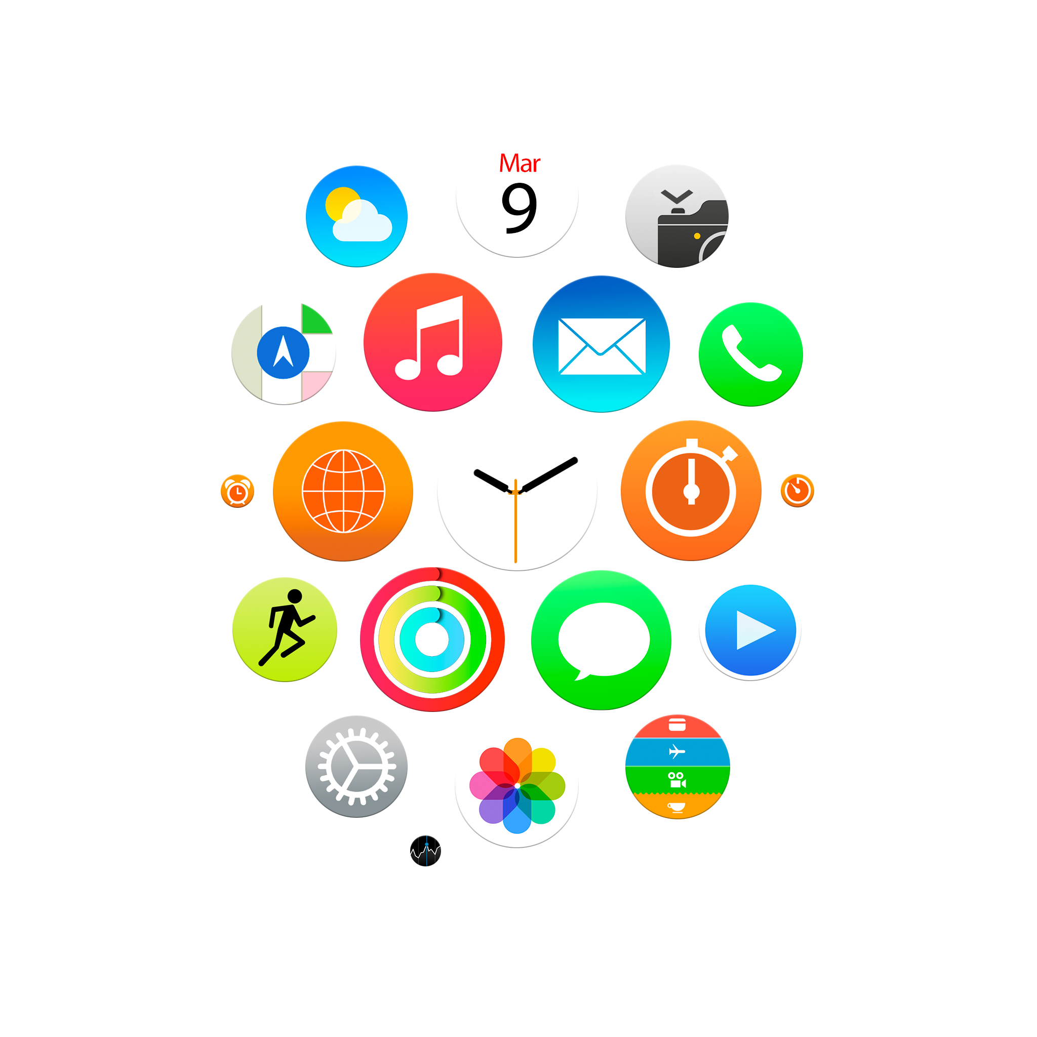 Apple Watch App Icons Wallpapers For Iphone Ipad And Desktop