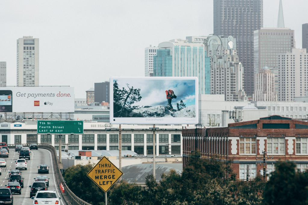 Apple campaing Shot on iPhone 6 Julian Bialowas billboard