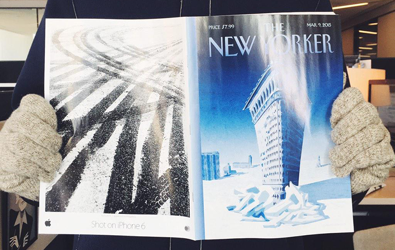 Apple campaing Shot on iPhone 6 New Yorker magazine