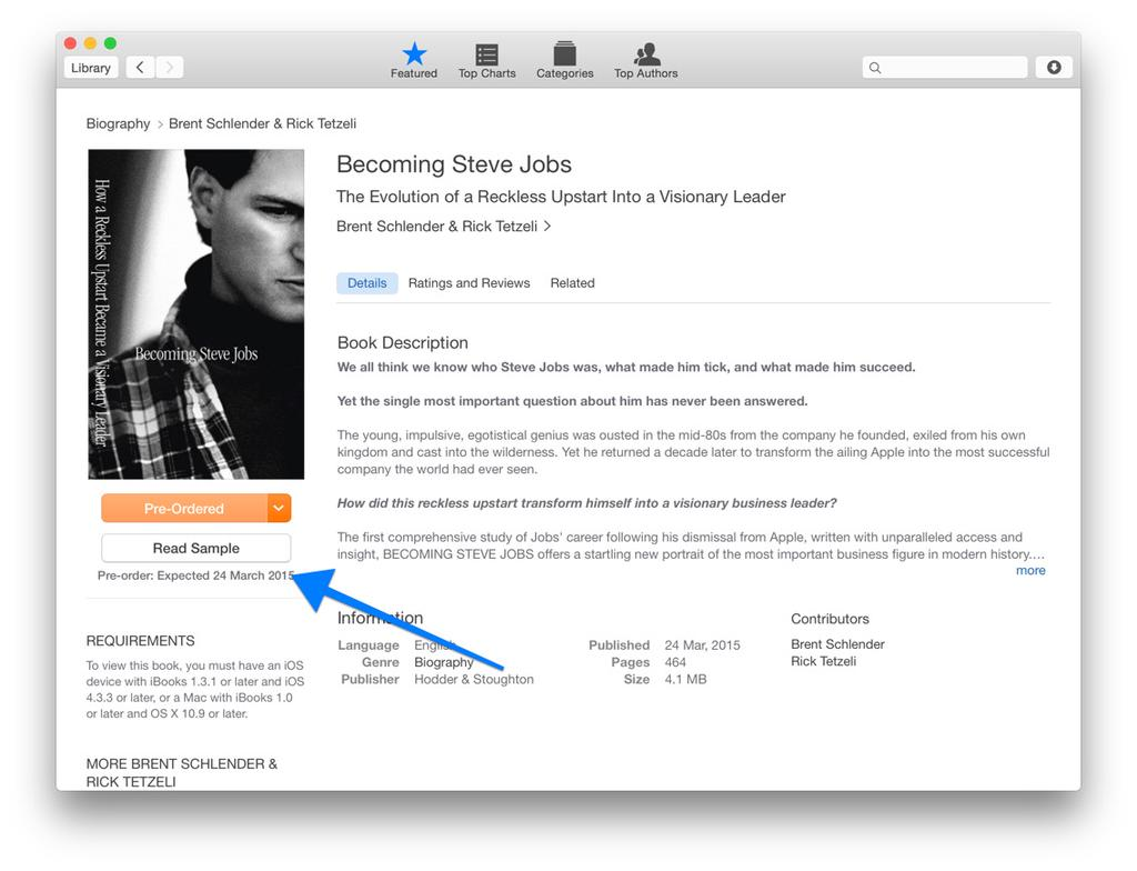 Becoming Steve Jobs on iBooks Store Mac screenshot 001