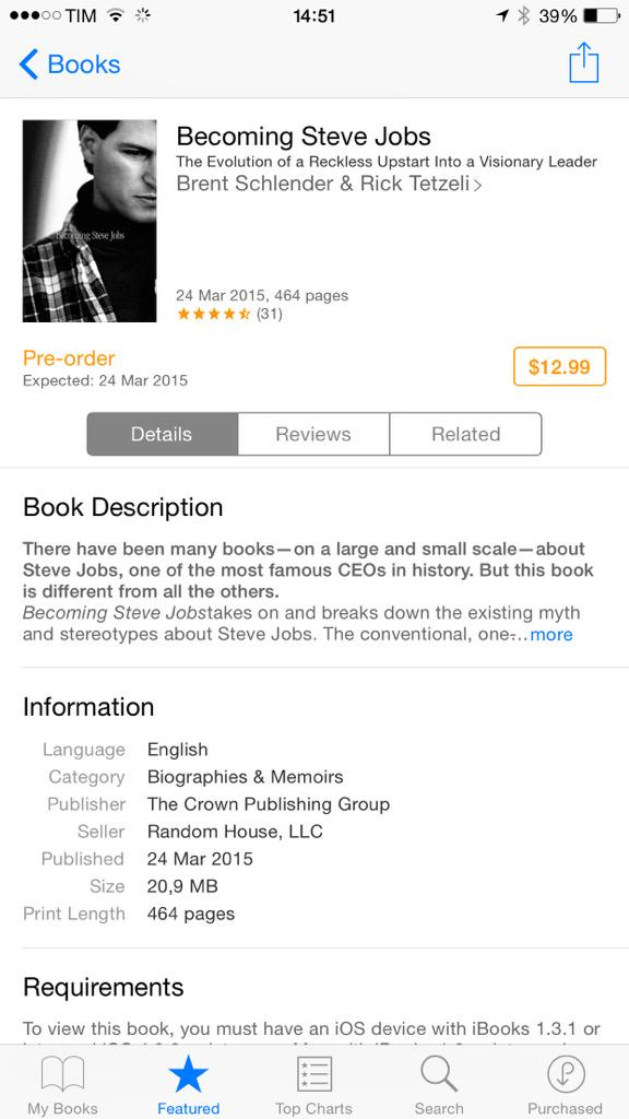 Becoming Steve Jobs on iBooks Store iPhone screenshot 001
