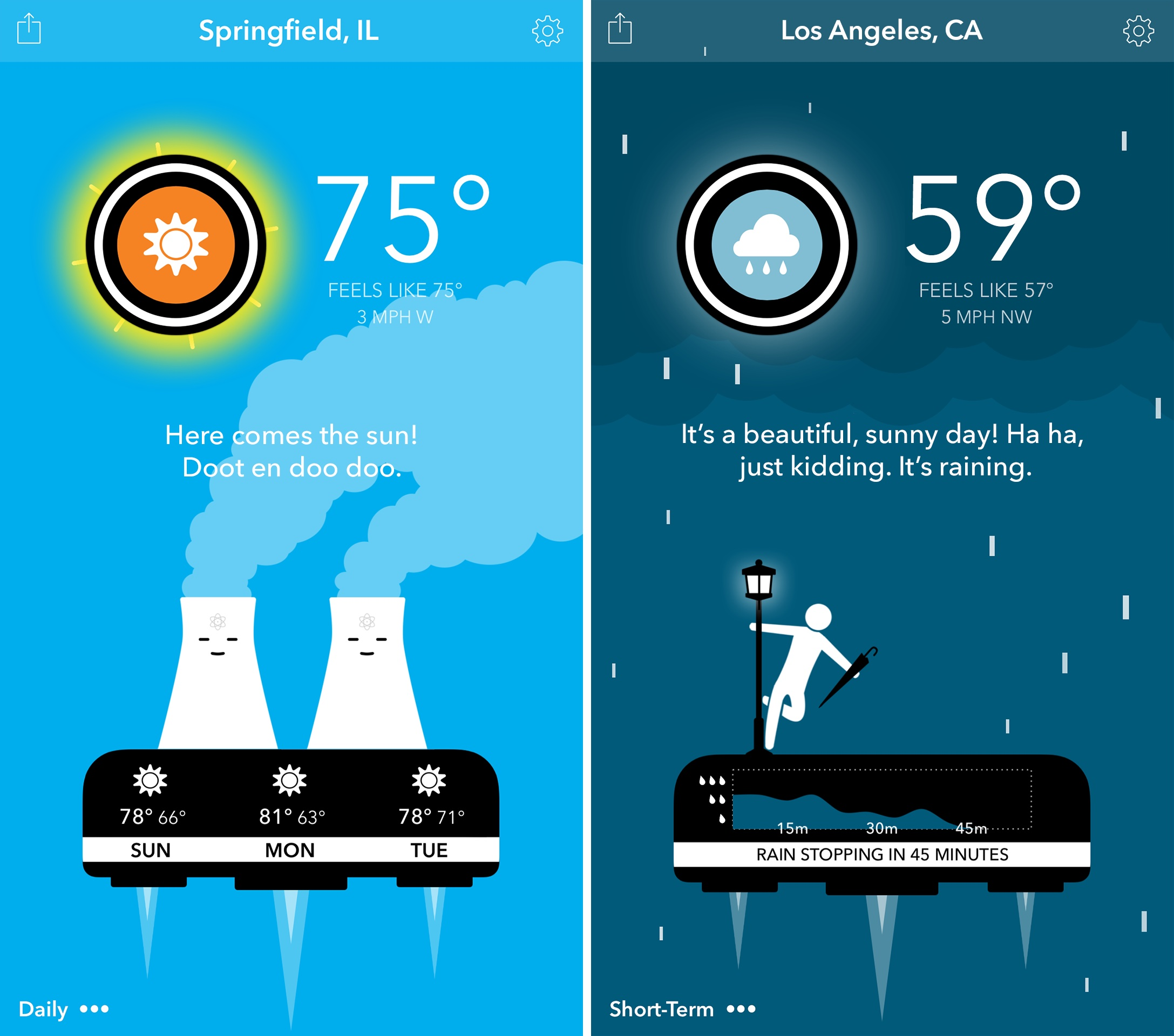 Carrot Weather 1.0 for iOS iPhone screenshot 001