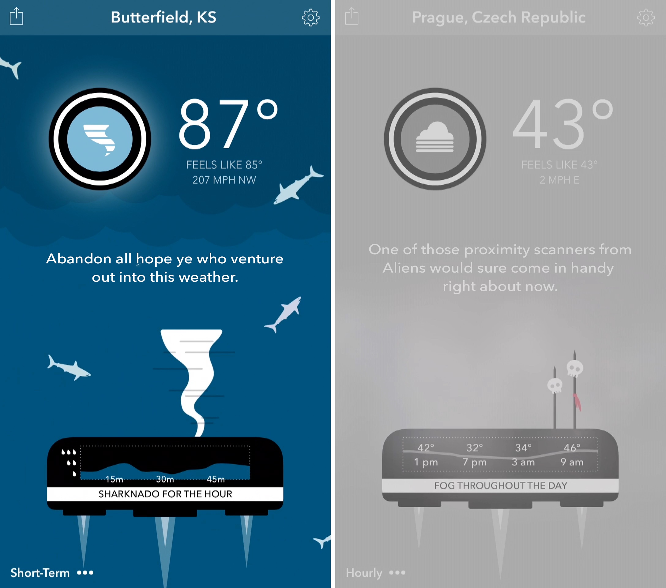 Carrot Weather 1.0 for iOS iPhone screenshot 003