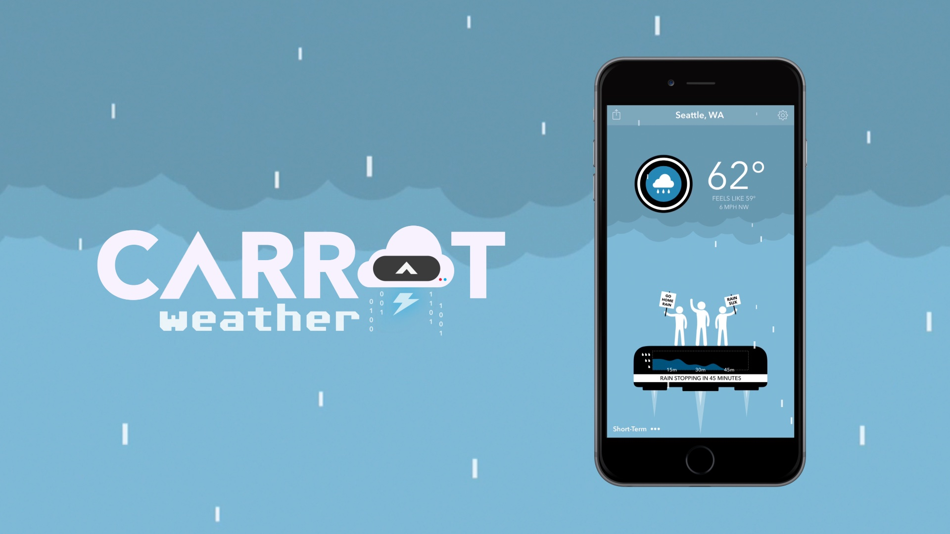 Carrot Weather 1.0 for iOS teaser 001