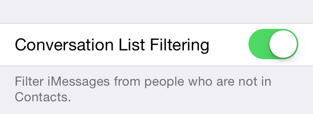 Conversation List Filtering Preferences