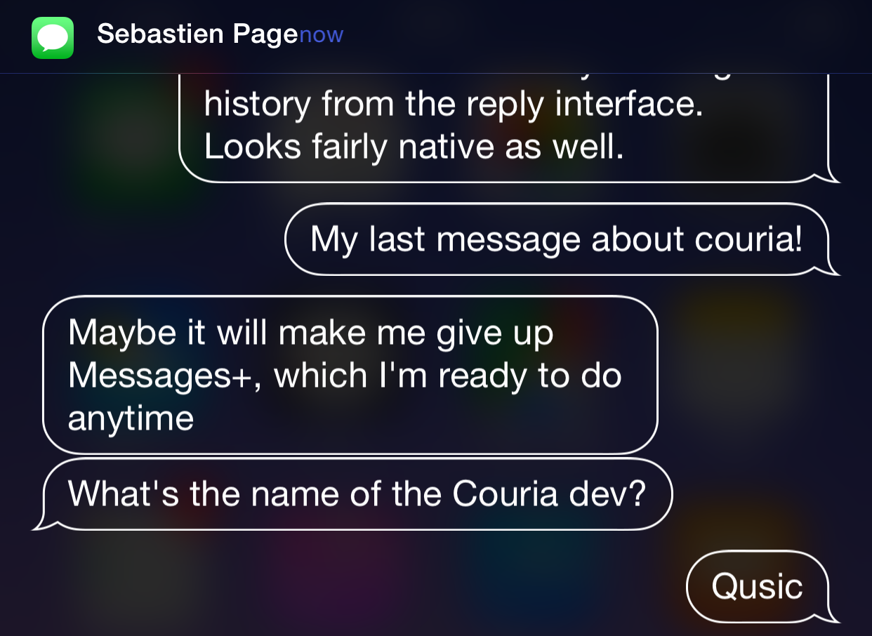 Hands-on with Couria, an upcoming quick reply and quick