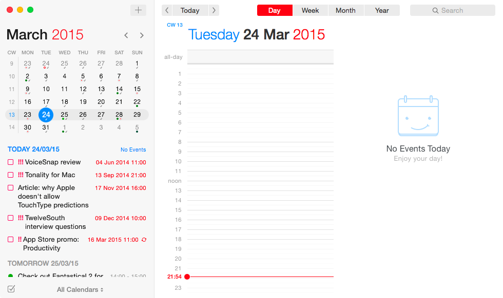 Fantastical 2 for OS X Mac screenshot 021