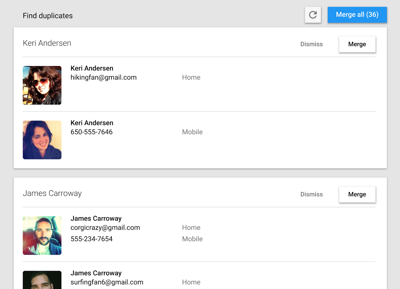 Google Contacts Material Design preview 002