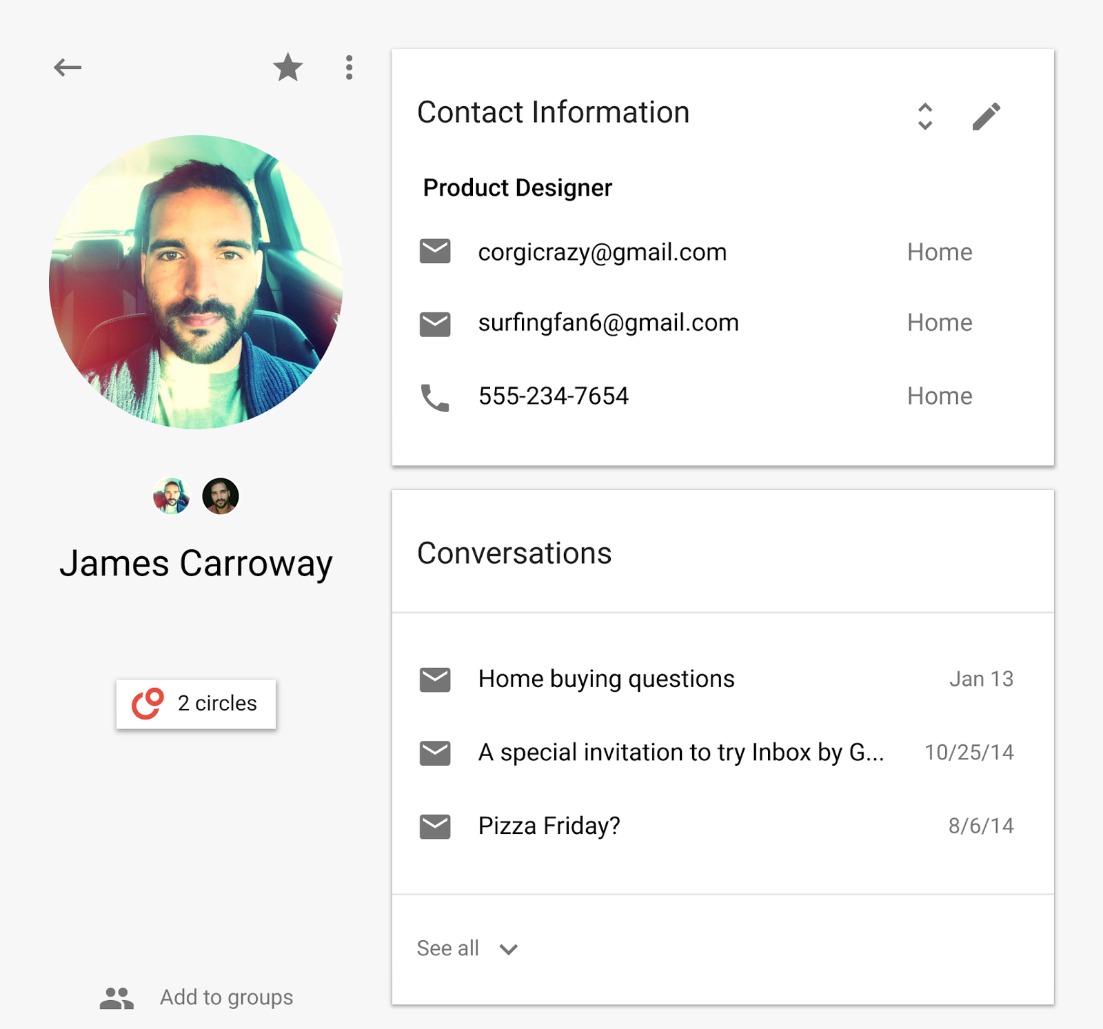 Google Contacts Material Design preview 004