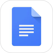 Google Docs 1.2 for iOS app icon small