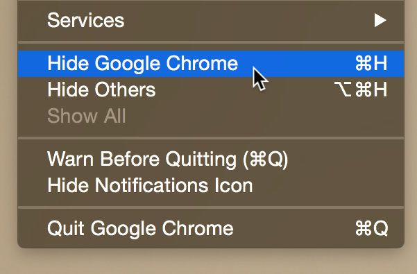 Hide Chrome