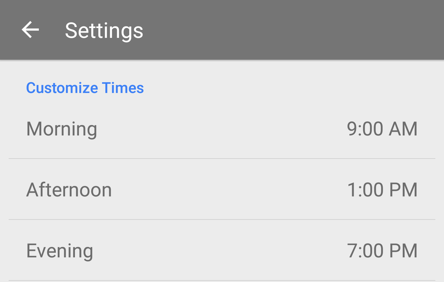 Inbox by Gmail custom snooze settings