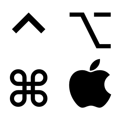 mac insert command symbol