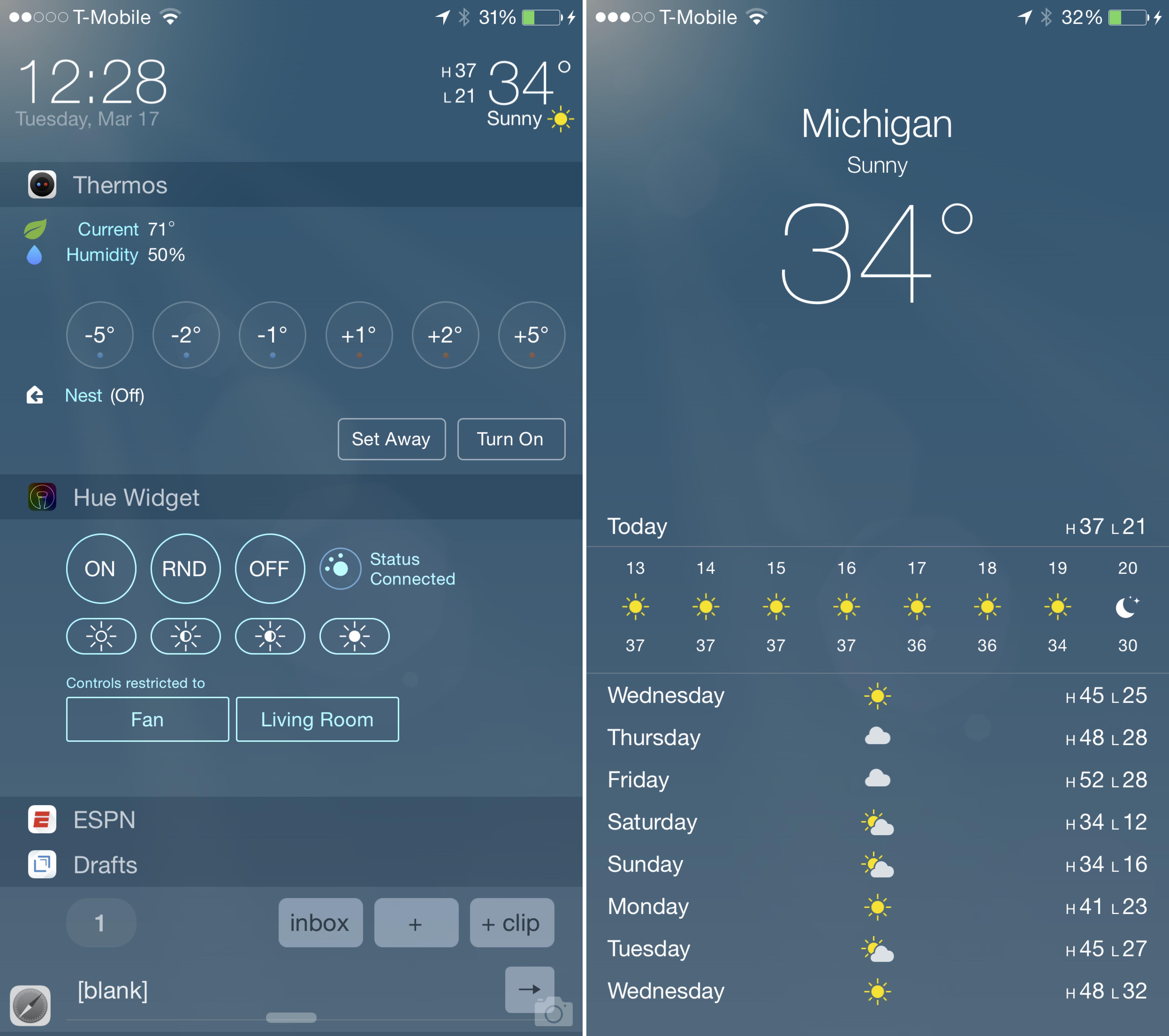 LockInfo with Weather